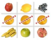 Numeri della frutta Immagini Stock Libere da Diritti