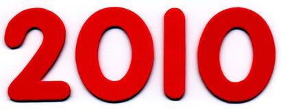 Numeri della gomma piuma - 2010 Immagini Stock Libere da Diritti