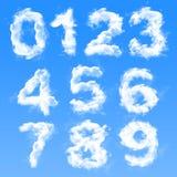 Numeri della nuvola Immagine Stock