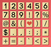 Numeri delle mattonelle Fotografia Stock
