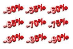 numeri delle percentuali 3D - % Fotografia Stock Libera da Diritti