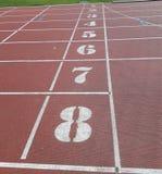 Numeri dello stadio immagine stock