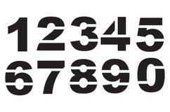 Numeri dello stampino Immagine Stock Libera da Diritti