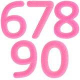 Numeri dentellare simili a pelliccia Immagine Stock Libera da Diritti