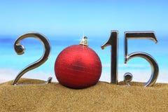 Numeri di anno 2015 Fotografia Stock
