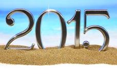 Numeri di anno 2015 Fotografia Stock Libera da Diritti