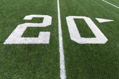 Numeri di calcio Fotografie Stock Libere da Diritti