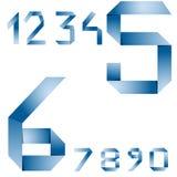Numeri di carta di vettore Immagine Stock