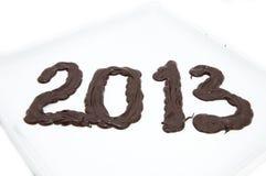 Numeri di cioccolato Fotografie Stock