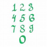 Numeri di disegno della mano Di nuovo al banco Illustrazione Vettoriale
