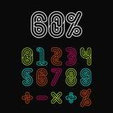 Numeri di fonti alfabetici fissati illustrazione vettoriale