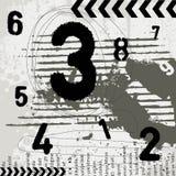 Numeri di Grunge Fotografie Stock