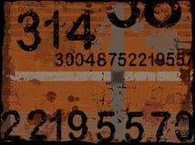Numeri di Grunge Fotografia Stock