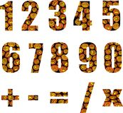 Numeri di Halloween Fotografie Stock Libere da Diritti