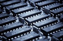 Numeri di Harmonous dei microcircuiti obsoleti Fotografie Stock Libere da Diritti