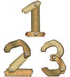 Numeri di legno   Fotografie Stock Libere da Diritti