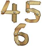 Numeri di legno Fotografia Stock