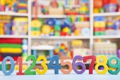 Numeri di legno Immagini Stock