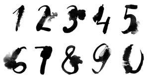 Numeri di lerciume fissati Royalty Illustrazione gratis