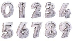 Numeri di pietra isolati Fotografia Stock Libera da Diritti