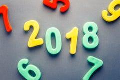 2018 numeri di plastica Fotografie Stock