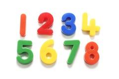 Numeri di plastica Fotografie Stock