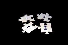 Numeri di puzzle Immagini Stock