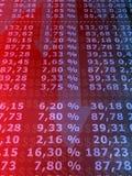 Numeri di riserva Immagine Stock