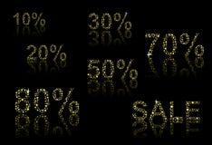 Numeri di sconto Fotografia Stock Libera da Diritti