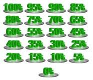 Numeri di sconto immagini stock