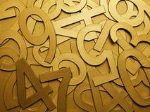 Numeri di struttura del metallo dell'oro giallo Immagine Stock Libera da Diritti
