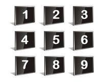 Numeri di vettore Fotografie Stock Libere da Diritti