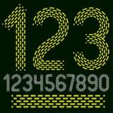 Numeri di vettore, numeri moderni fissati Retro numerati audace arrotondato Immagine Stock