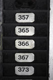 Numeri di zolla Fotografia Stock