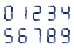 Numeri digitali blu Fotografie Stock