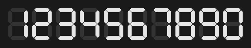Numeri digitali di vettore Fotografia Stock Libera da Diritti