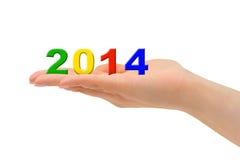 Numeri 2014 a disposizione Fotografia Stock