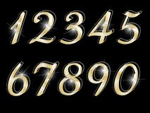 Numeri dorati Fotografie Stock Libere da Diritti