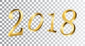 Numeri dorati del buon anno Immagine Stock