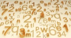 Numeri e lettere Fotografia Stock