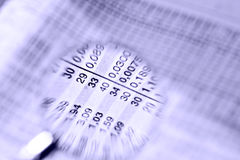 Numeri e numeri immagine stock