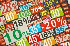 Numeri e percentuali Fotografia Stock Libera da Diritti