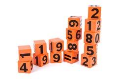 Numeri e segno Fotografia Stock