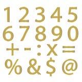 Numeri e simboli Fotografia Stock