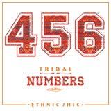 Numeri etnici tribali per le magliette, i manifesti, la carta ed altra usi Immagini Stock Libere da Diritti
