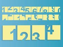 Numeri fissati Fotografie Stock Libere da Diritti