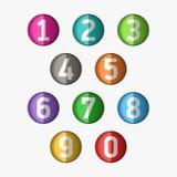 Numeri fissati Fotografia Stock Libera da Diritti
