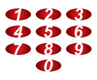 Numeri fissati Illustrazione di vettore Fotografia Stock