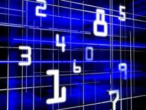 Numeri futuristici Immagine Stock