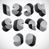 numeri futuristici 3d fissati Fotografie Stock Libere da Diritti